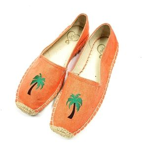 143 Girl | Canvas Espadrilles Palm Tree Flats 8.5